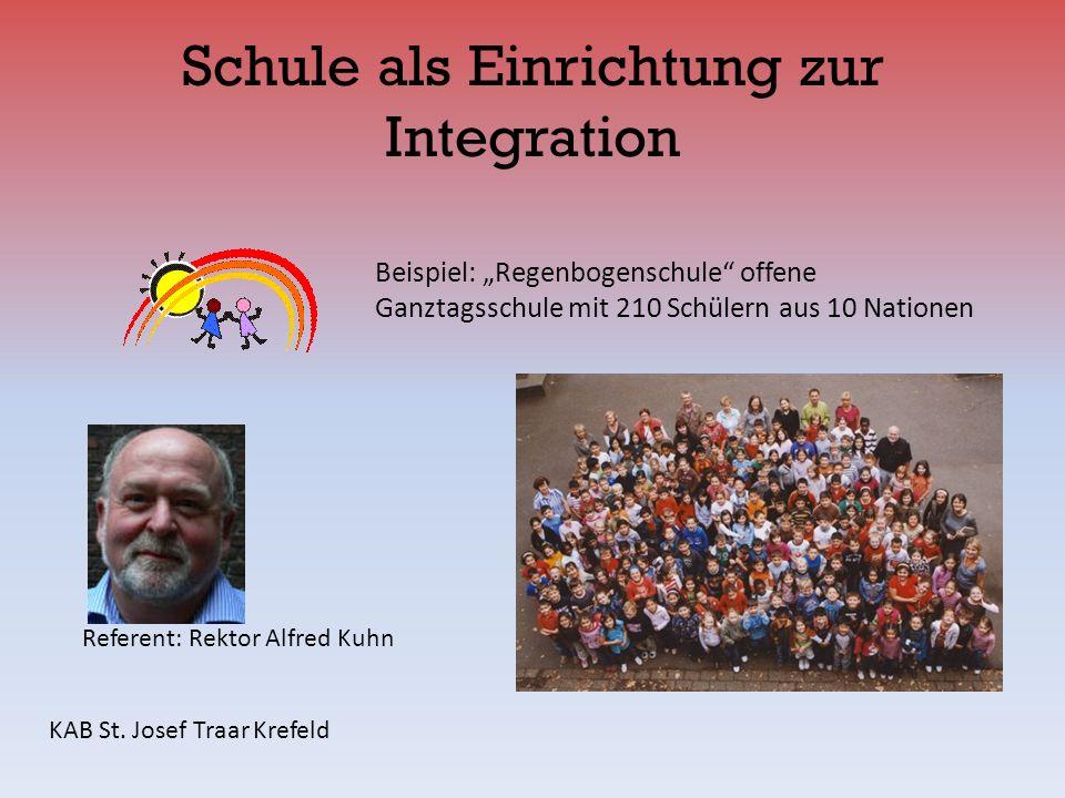 Schule als Einrichtung zur Integration