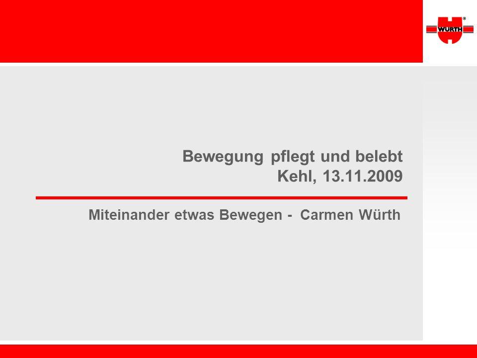 Bewegung pflegt und belebt Kehl, 13.11.2009