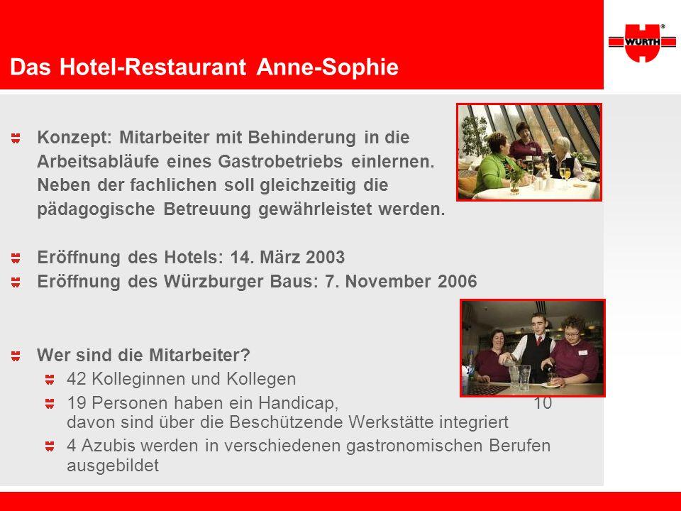 Das Hotel-Restaurant Anne-Sophie