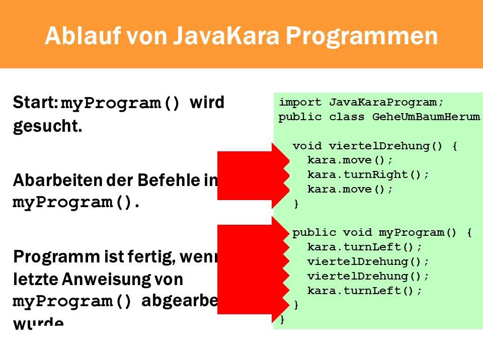 Ablauf von JavaKara Programmen