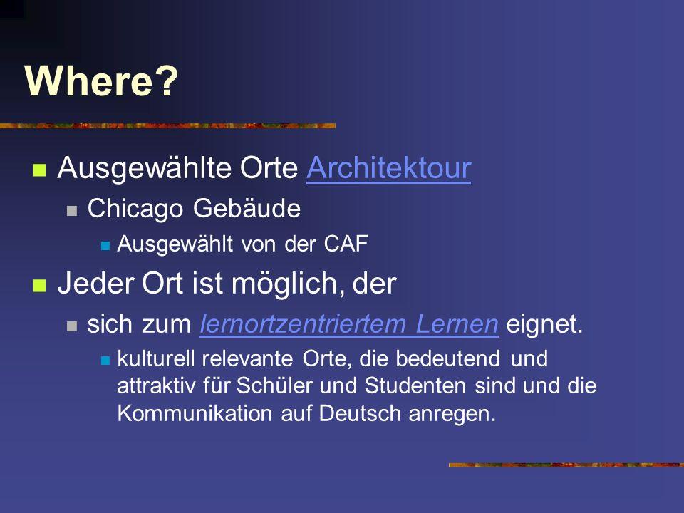 Where Ausgewählte Orte Architektour Jeder Ort ist möglich, der