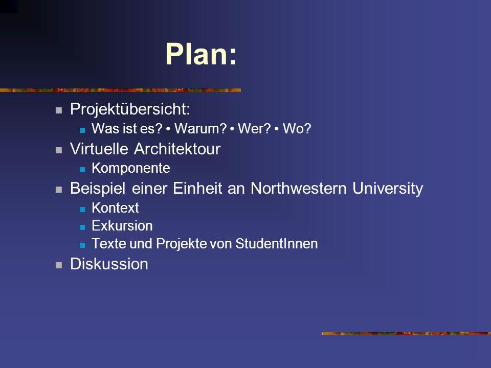 Plan: Projektübersicht: Virtuelle Architektour