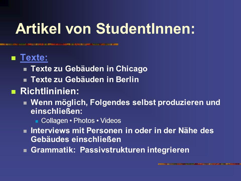 Artikel von StudentInnen: