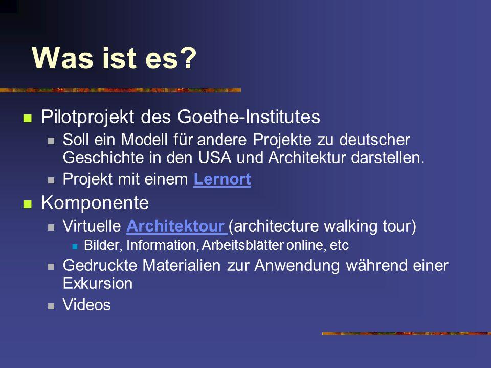 Was ist es Pilotprojekt des Goethe-Institutes Komponente