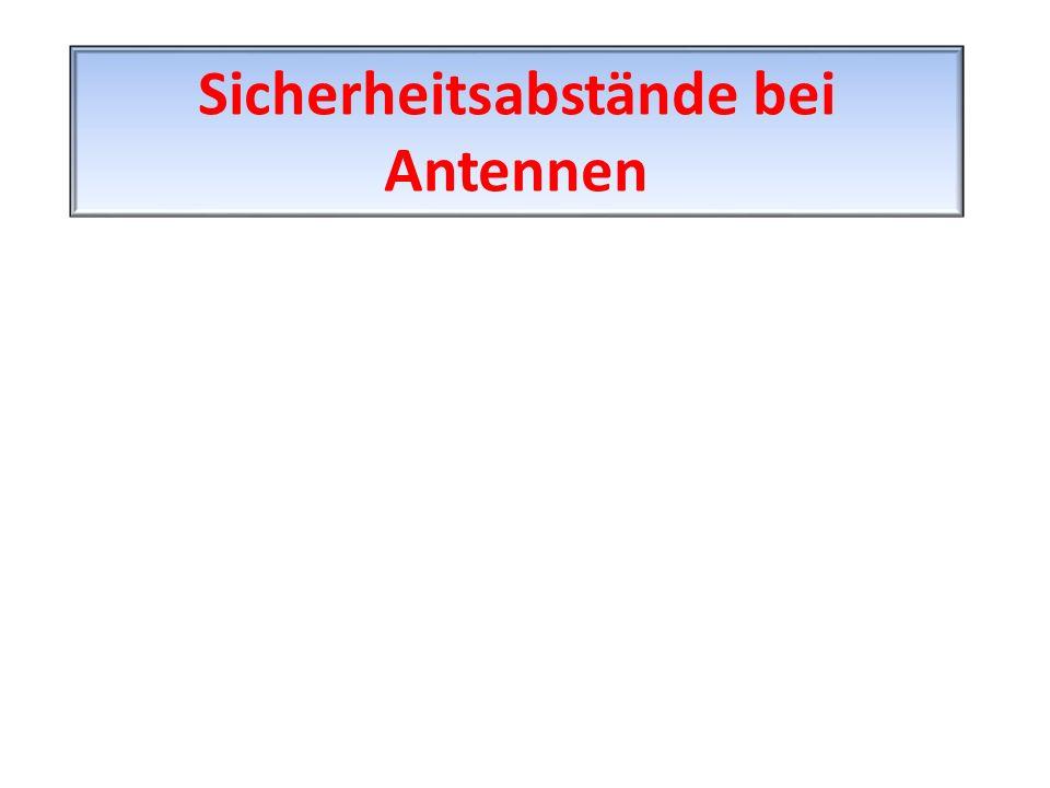 Sicherheitsabstände bei Antennen