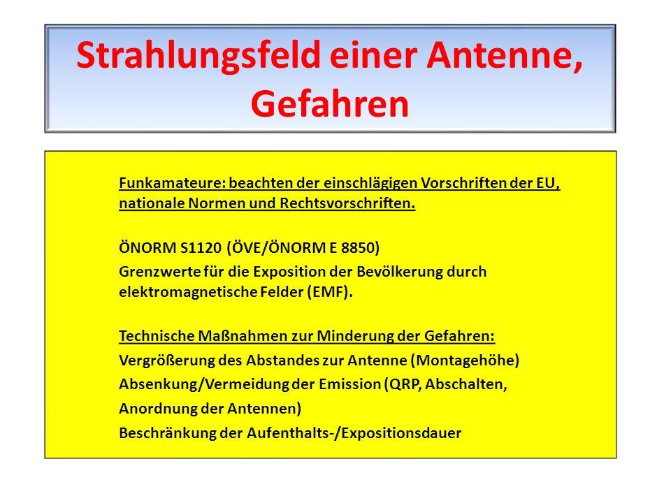 Strahlungsfeld einer Antenne, Gefahren