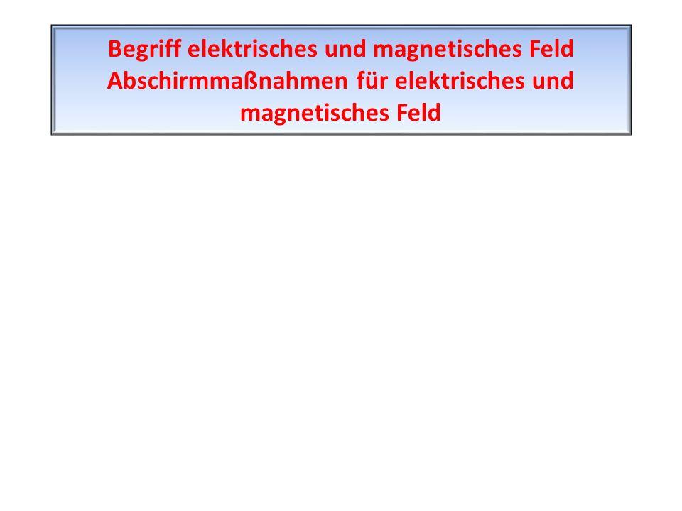 Begriff elektrisches und magnetisches Feld Abschirmmaßnahmen für elektrisches und magnetisches Feld