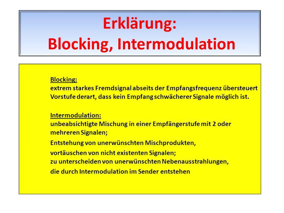 Erklärung: Blocking, Intermodulation