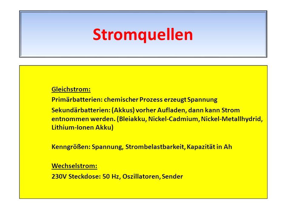 Stromquellen Gleichstrom:
