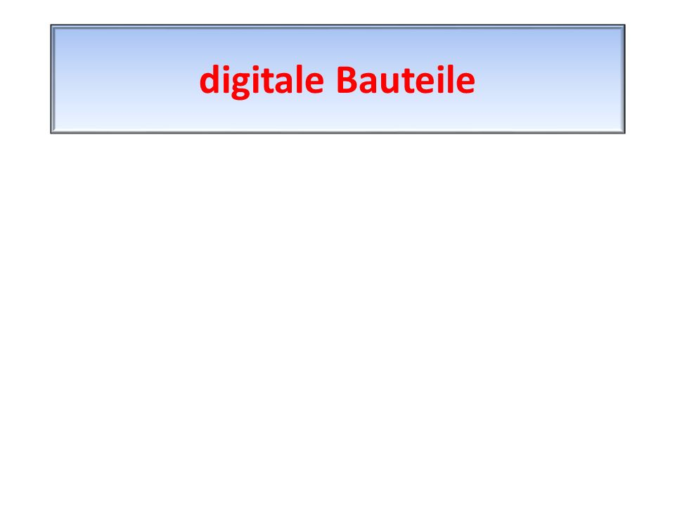 digitale Bauteile