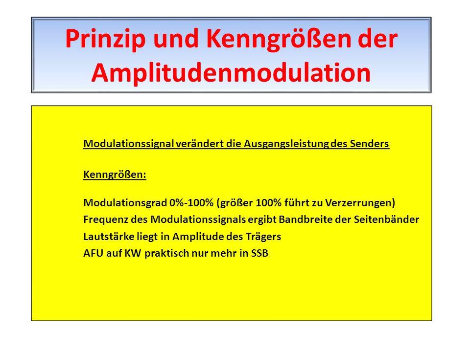 Prinzip und Kenngrößen der Amplitudenmodulation