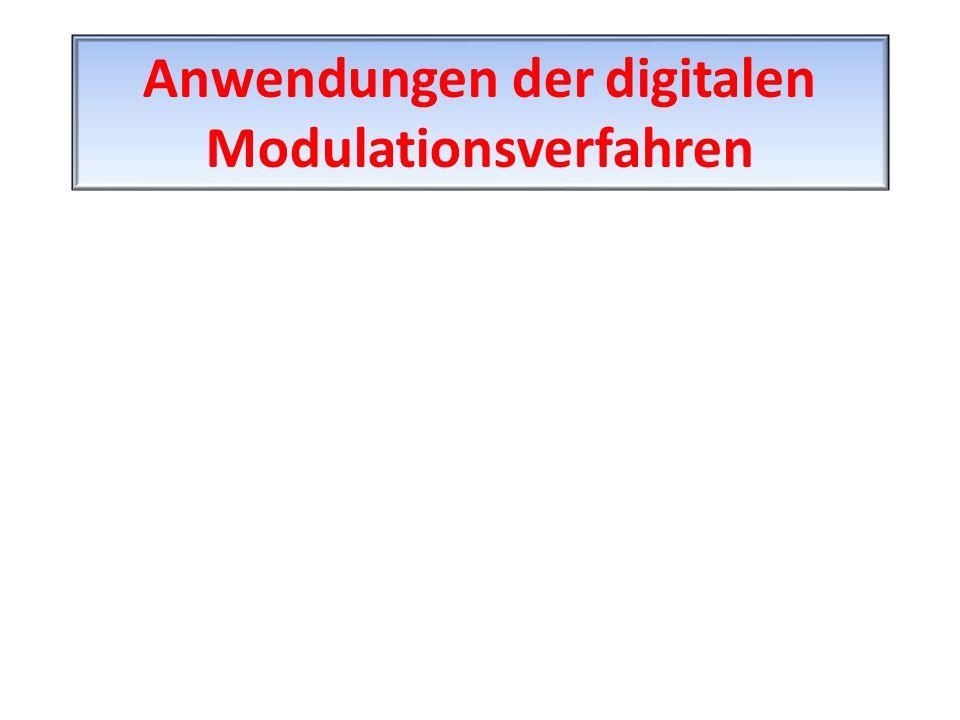 Anwendungen der digitalen Modulationsverfahren