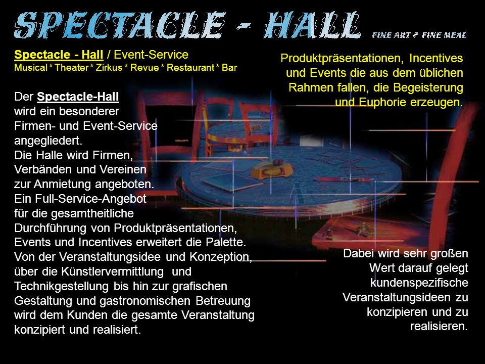 Spectacle - Hall / Event-Service
