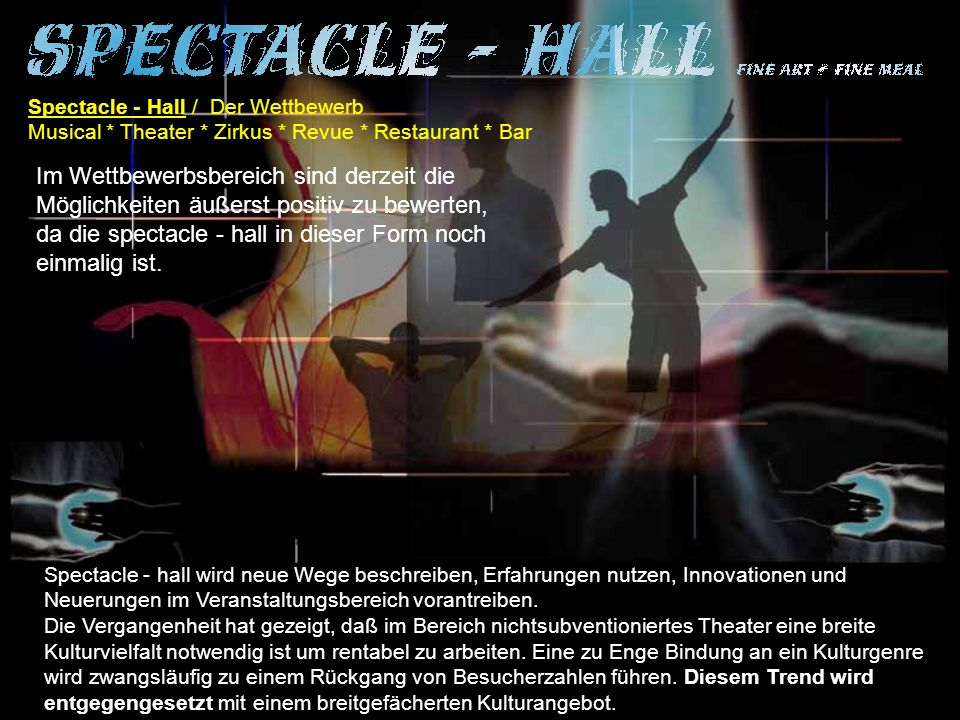 Spectacle - Hall / Der Wettbewerb
