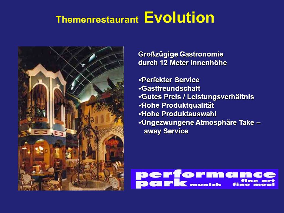 Themenrestaurant Evolution