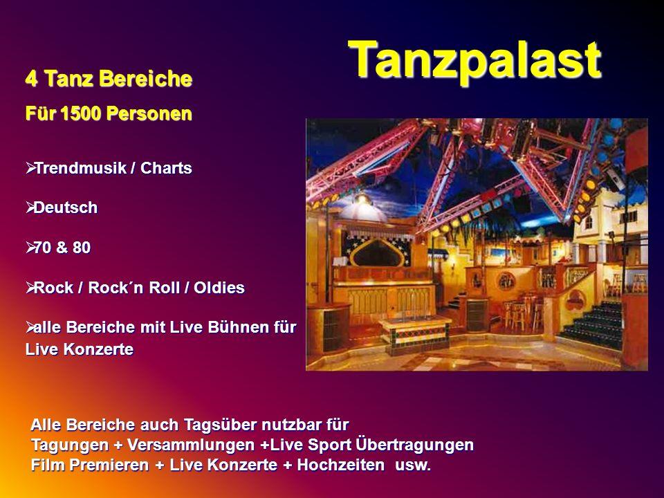 Tanzpalast 4 Tanz Bereiche Für 1500 Personen Trendmusik / Charts