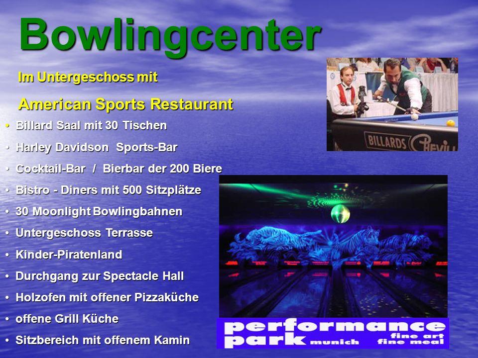Bowlingcenter American Sports Restaurant Im Untergeschoss mit