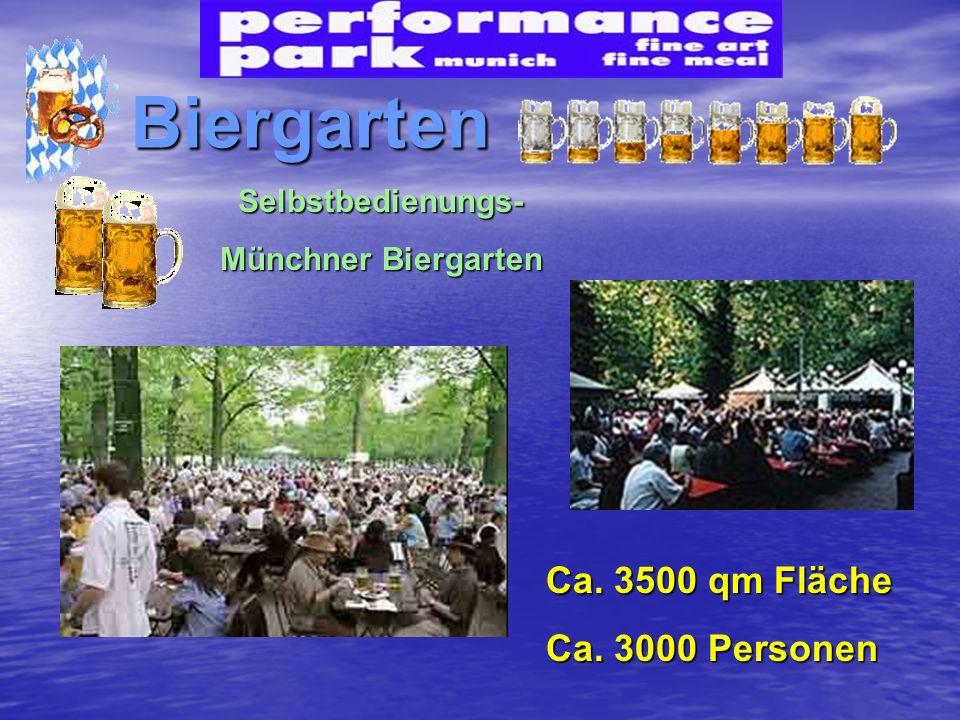Biergarten Ca. 3500 qm Fläche Ca. 3000 Personen Selbstbedienungs-