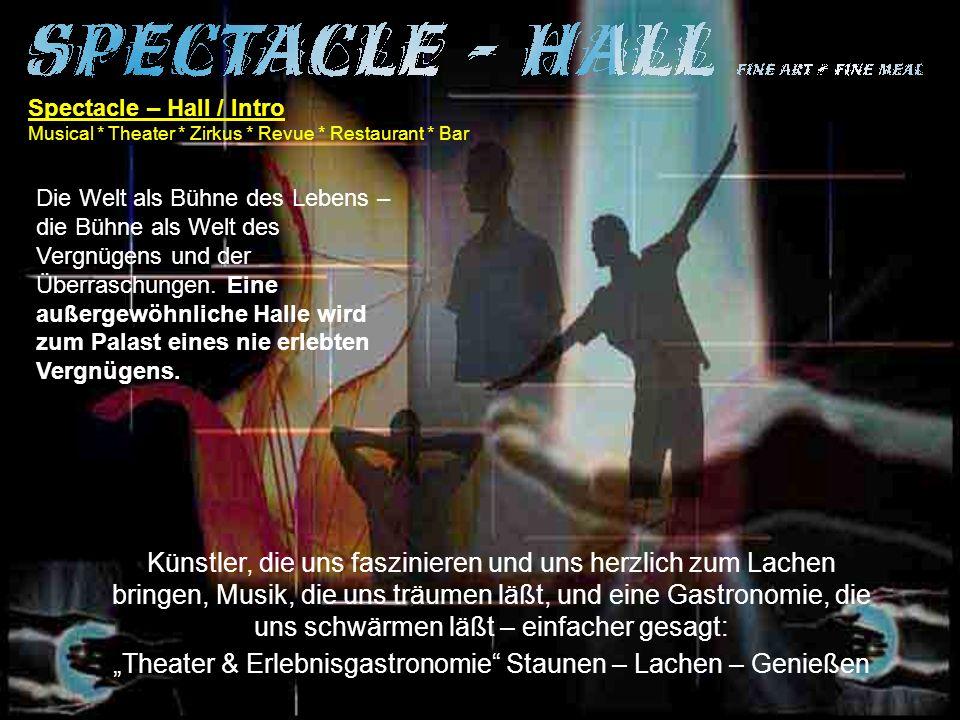 """""""Theater & Erlebnisgastronomie Staunen – Lachen – Genießen"""