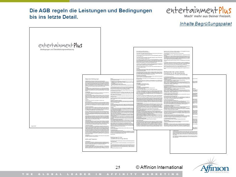 Die AGB regeln die Leistungen und Bedingungen bis ins letzte Detail.