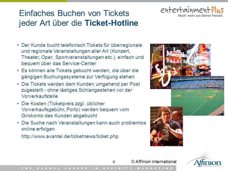 Einfaches Buchen von Tickets jeder Art über die Ticket-Hotline