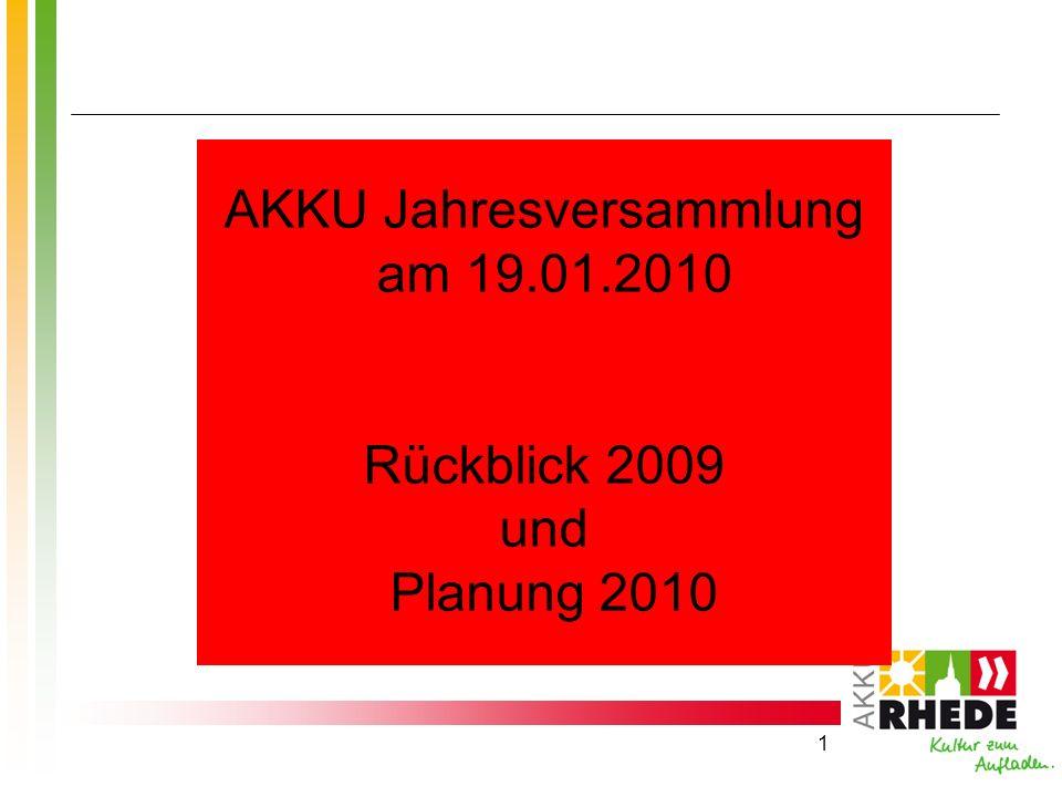 AKKU Jahresversammlung am 19.01.2010
