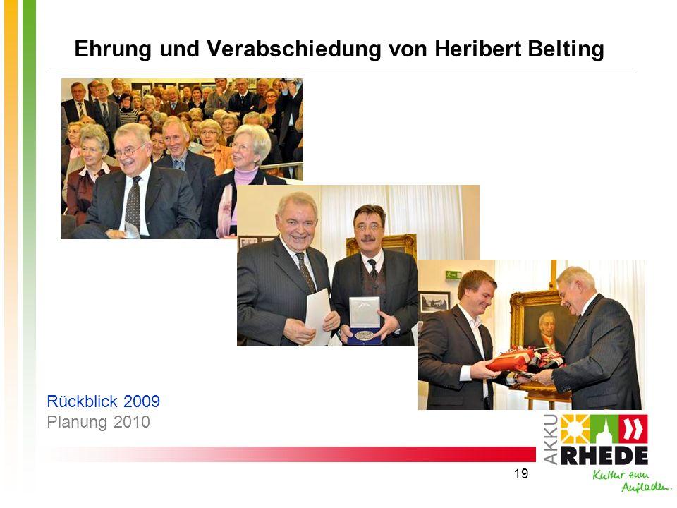 Ehrung und Verabschiedung von Heribert Belting