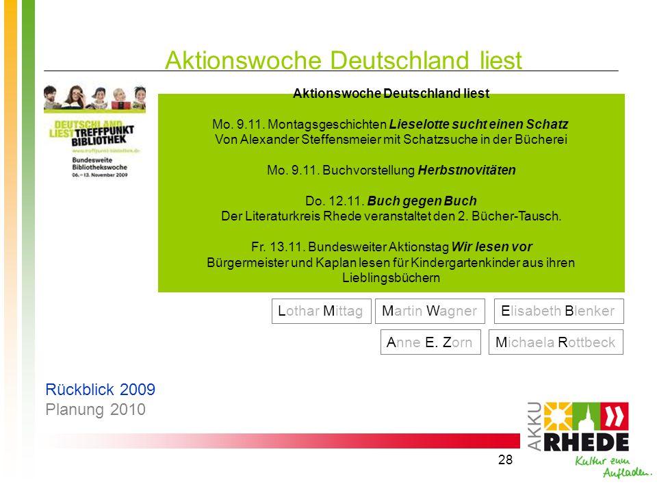 Aktionswoche Deutschland liest