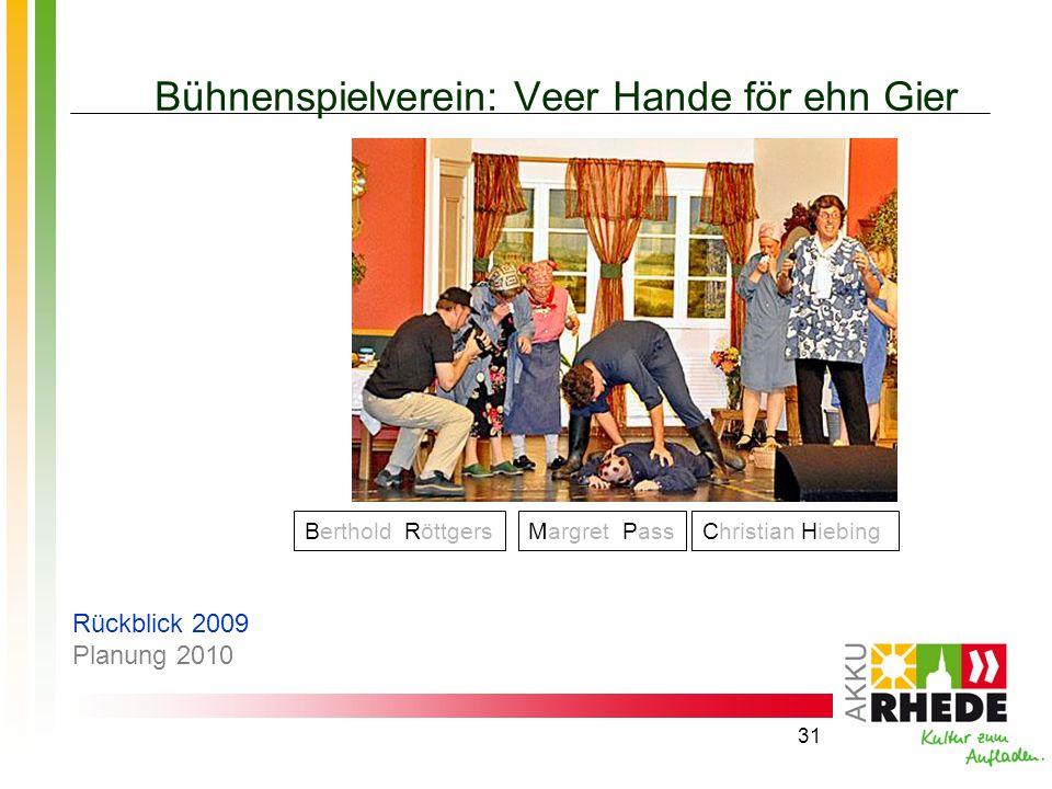 Bühnenspielverein: Veer Hande för ehn Gier
