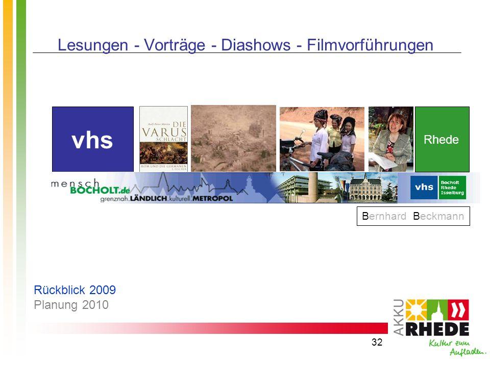 Lesungen - Vorträge - Diashows - Filmvorführungen