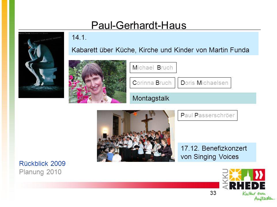 Paul-Gerhardt-Haus 14.1. Kabarett über Küche, Kirche und Kinder von Martin Funda. Michael Bruch.