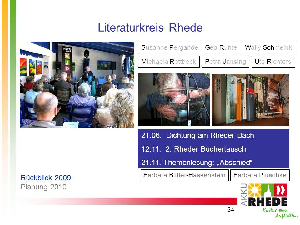 Literaturkreis Rhede 21.06. Dichtung am Rheder Bach