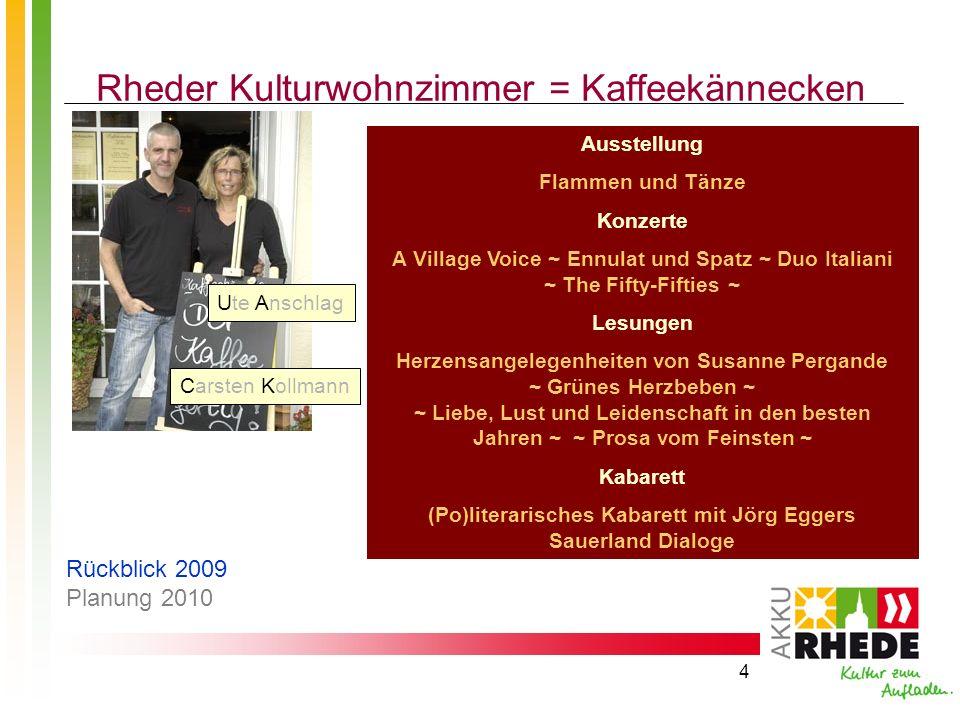 Rheder Kulturwohnzimmer = Kaffeekännecken