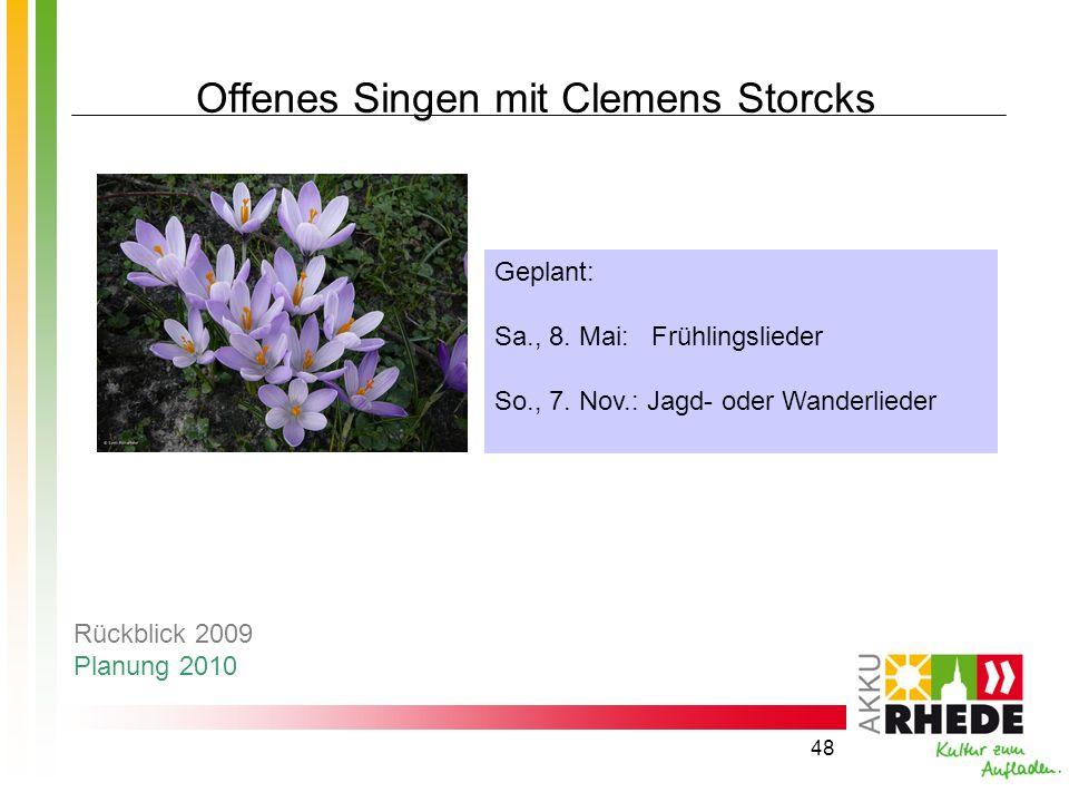 Offenes Singen mit Clemens Storcks