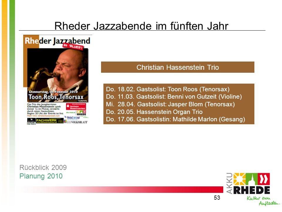 Rheder Jazzabende im fünften Jahr