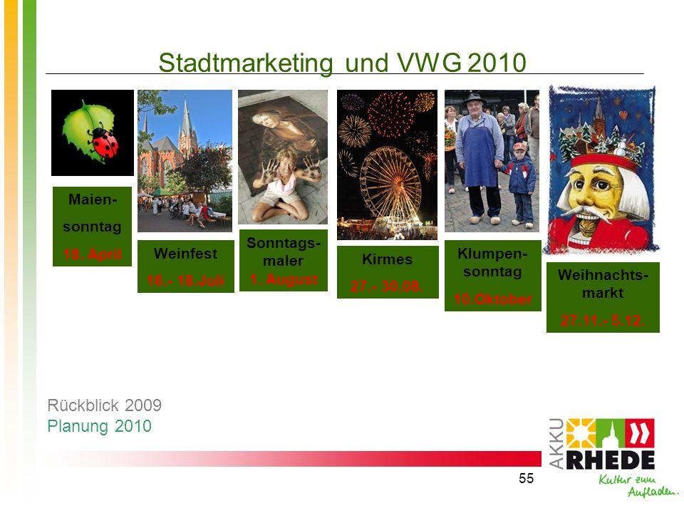 Stadtmarketing und VWG 2010