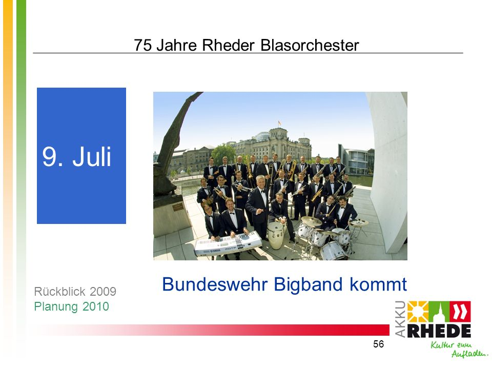 75 Jahre Rheder Blasorchester