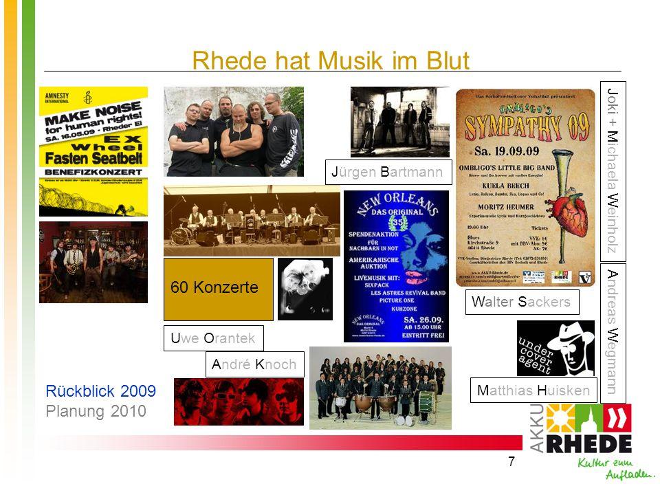 Rhede hat Musik im Blut 60 Konzerte Rückblick 2009 Planung 2010