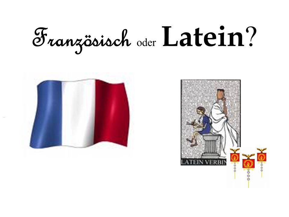 Französisch oder Latein