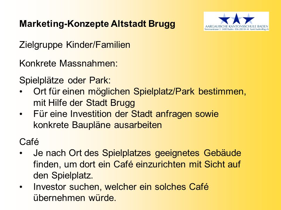 Marketing-Konzepte Altstadt Brugg