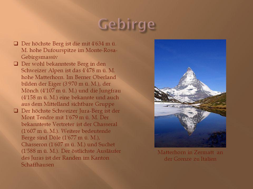 Matterhorn in Zermatt an der Grenze zu Italien