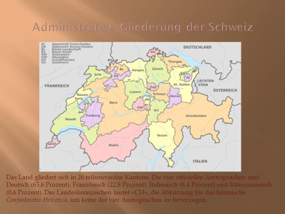 Administrative Gliederung der Schweiz