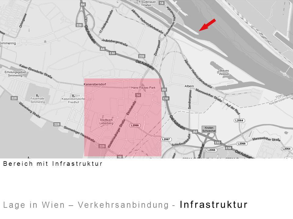 Lage in Wien – Verkehrsanbindung - Infrastruktur