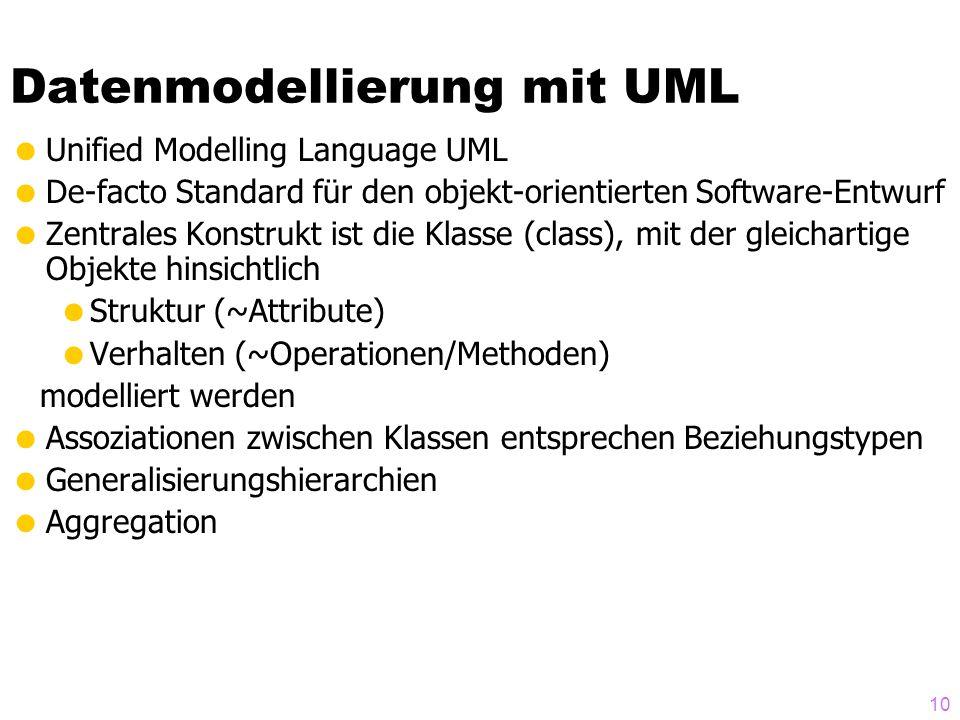 Datenmodellierung mit UML
