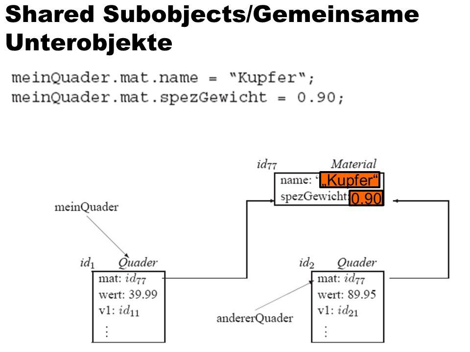 Shared Subobjects/Gemeinsame Unterobjekte