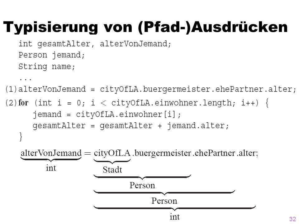 Typisierung von (Pfad-)Ausdrücken