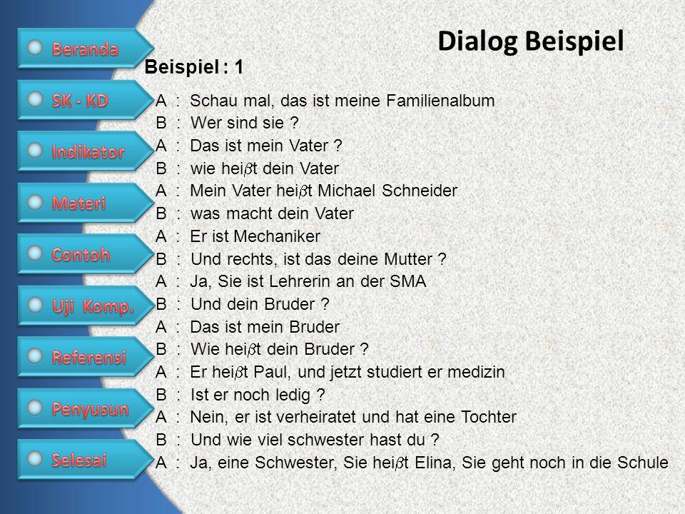 Dialog Beispiel Beispiel : 1