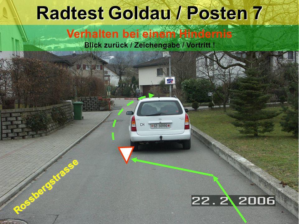 Radtest Goldau / Posten 7