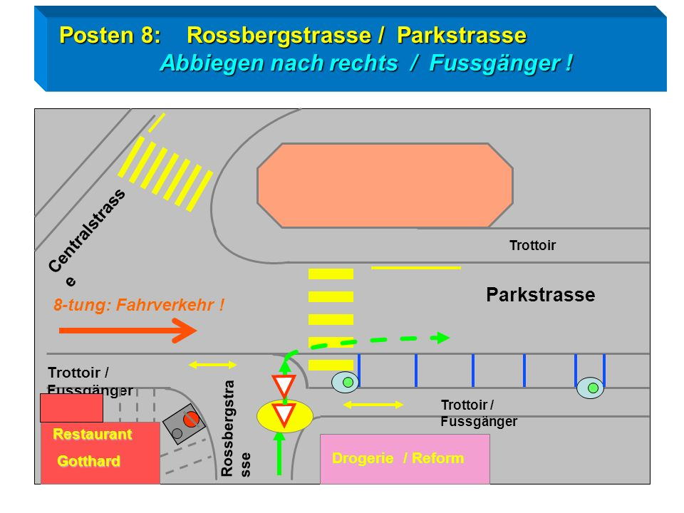 Posten 8: Rossbergstrasse / Parkstrasse