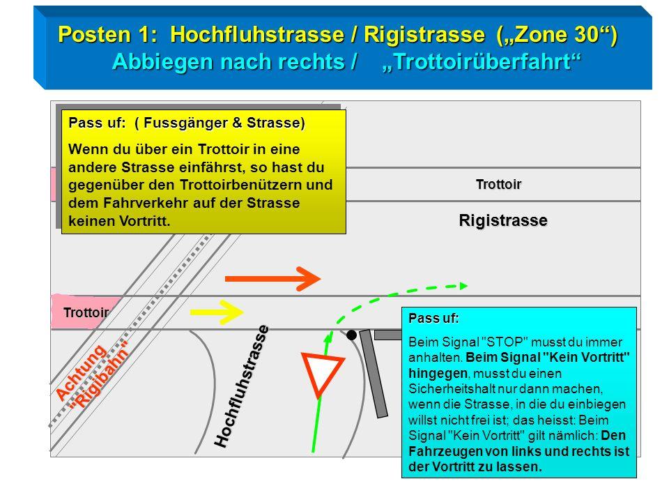 "Posten 1: Hochfluhstrasse / Rigistrasse (""Zone 30 )"